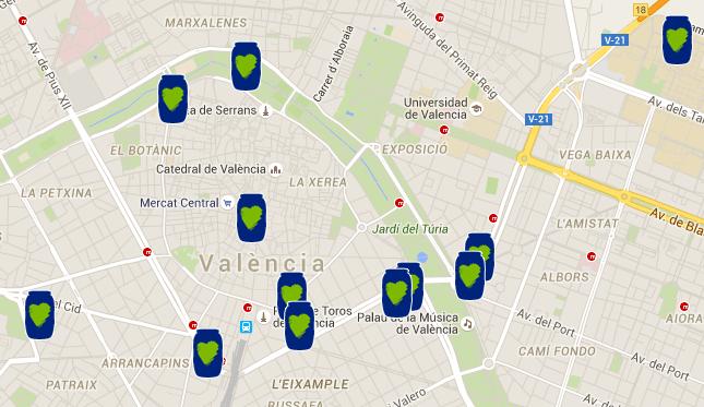 Mapa Valencia Aceite Solidario